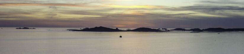 Sunset over the Isles of Scilly